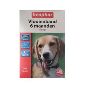 Vlooienband-honden-zwart