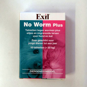 Exil-wormmiddel-hond-kat